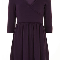 Bille and Blossom Purple wrap dress