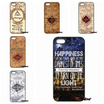 Harry Potter Marauder's Map Pattern hard Phone Case For Samsung Galaxy Note 2 3 4 5 S2 S3 S4 S5 MINI S6 Active S7 edge
