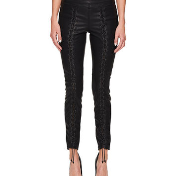 Blank NYC Vegan Leather Lace-Up Skinny in Easy Street