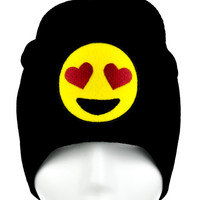 Love Heart Eyes Emoji Beanie Alternative Clothing Knit Cap I Love You