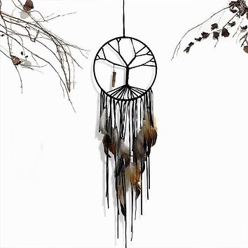 Tree of Life Dream Catcher With Natural Stone Charm