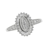 Diamond Fashion Oval Ring 1/2ctw