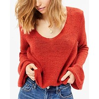 MINKPINK lauren knit jumper in red