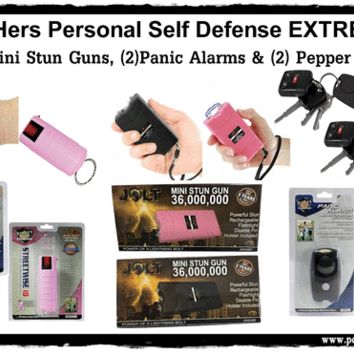 His & Her Personal Self Defense EXTREME Safety Kit