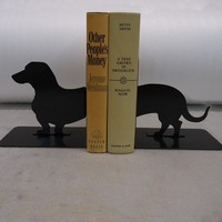 Wienerdog Bookends FREE USA Shipping by KnobCreekMetalArts