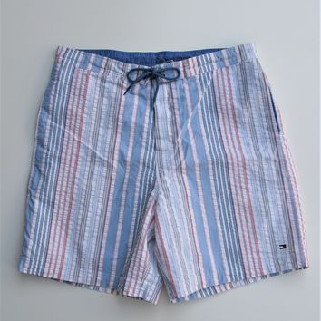 Vintage Tommy Hilfiger Striped Seersucker Board Shorts Bermuda Shorts XL