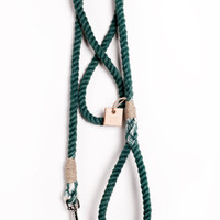 Rope dog leash pet supplies dog collar dog lead: Small forest green cotton rope leash