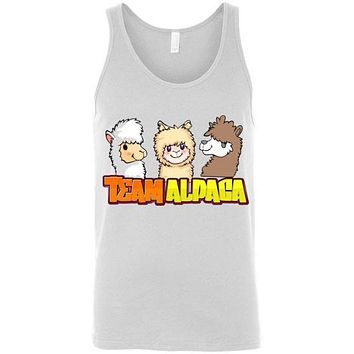 t-shirt: Team Alpaca Canvas Unisex Tank