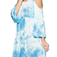 Tie-Dye Cold Shoulder Dress- FINAL SALE