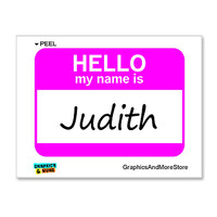 Judith Hello My Name Is Sticker