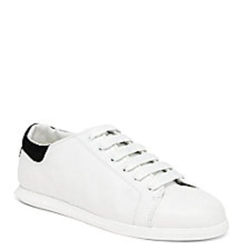 Alexander McQueen - Leather Single-Sole Sneakers - Saks Fifth Avenue Mobile