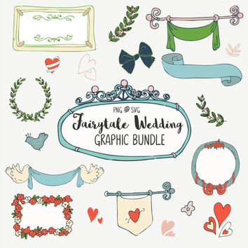 Wedding SVG Bundle | SVG Cut Files | Silohuette Machine SVG Files | Cricut Cut Design Files |Wedding Clip Art | Wedding Graphics