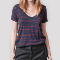 Basic Tee Scarlet Stripe