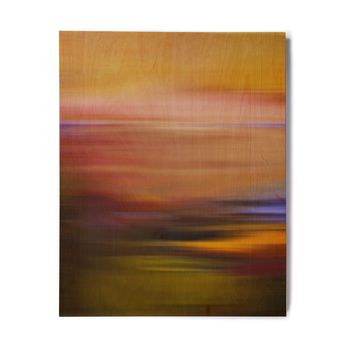 "Iris Lehnhardt ""Abstract Sunset"" Multicolor Abstract Nature Photography Digital Birchwood Wall Art"