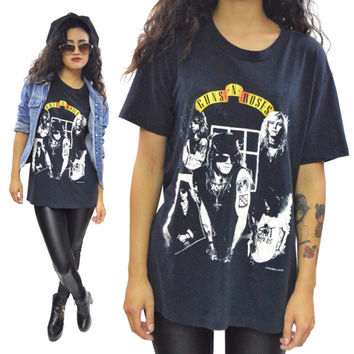 Vintage 80s Guns N' Roses Appetite for Destruction T Shirt Sz L