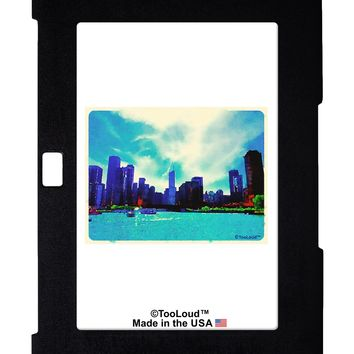 Chicago Skyline Watercolor Galaxy Note 10.1 Case  by TooLoud