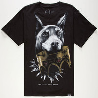 Rook Doberman Crown Mens T-Shirt Black  In Sizes