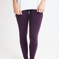 Legs For Days Plum Fleece Lined Leggings