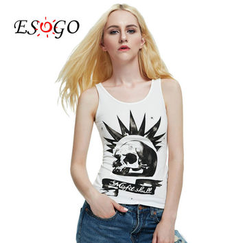 misfit skull Top Tee Sleeveless t-shirts 2016 new free shipping
