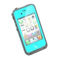 Waterproof Shockproof Dirtproof Snowproof Protection Case Cover for Apple Iphone 4 4s 4g Light Blue