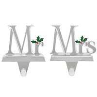 Harvey Lewis™ Mr. and Mrs. Stocking Hanger Collection Made with Swarovski® Elements