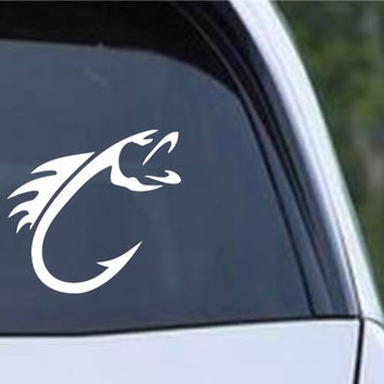 Fish Hook Fishing Die Cut Decal Vinyl Sticker