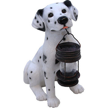 Dalmatian Puppy Solar Light Lantern Garden Pathway Yard Light
