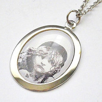 Les Miserables: Cosette / broadway musical poster playbill cameo pendant necklace