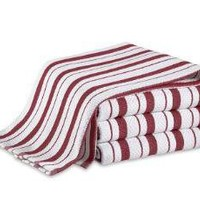 Red Striped Hand Towels
