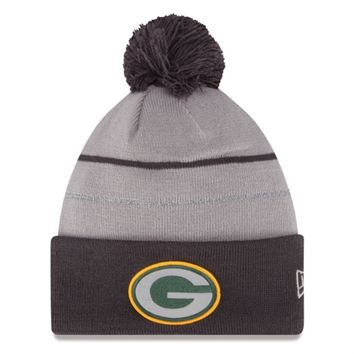 Mens Green Bay Packers New Era Graphite 2014 Thanksgiving Fan Cuffed Knit Hat