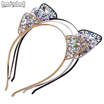 Hot Womens Girls Cat Hairband Tiara Crown Cat Ears Headband