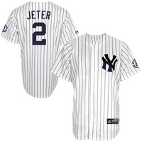 Derek Jeter New York Yankees Majestic Big & Tall Commemorative Jersey – White