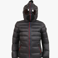 AI Rider On The Storm Boys Down Jacket in Black/Grey
