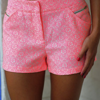 A Preppy State Of Mind Shorts: Neon Pink | Hope's