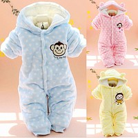 Baby Girl Clothes Down Parkas Newborn Baby Clothes Spring Baby Boy Clothing Infant Jumpsuits