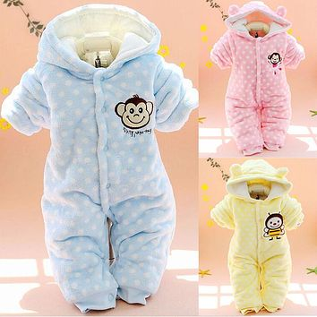 Baby Rompers Winter Baby Girl Clothes Down Parkas Newborn Baby Clothes Spring Baby Boy Clothing Roupas Bebe Infant Jumpsuits