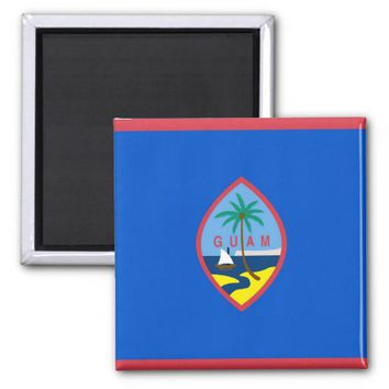 Magnet with Flag of Guam - USA