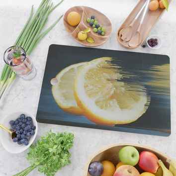Lemony Good Glitch Cutting Board by duckyb