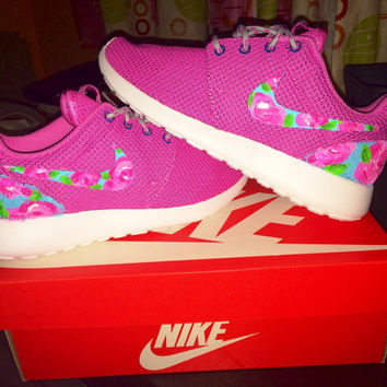 Custom Women's Nike Roshe Run Lilly Pulitzer Print