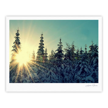"Robin Dickinson ""Shine Bright"" Snowy Trees Fine Art Gallery Print"