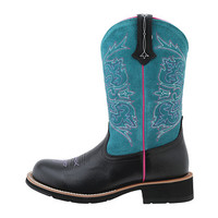 Ariat Fatbaby Cowgirl Tall Black Deertan/Turquoise - Zappos.com Free Shipping BOTH Ways