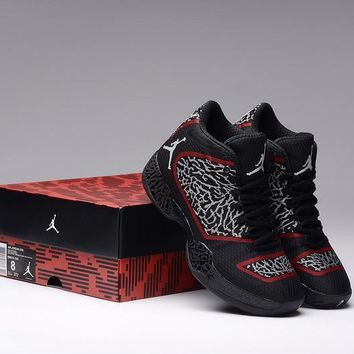 nike air jordan xx9 aj29 black red white basketball men s shoes size us 8 12  number 1