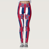 Leggings with flag of Mississippi State, USA