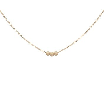 Solid Gold Triple Stardust Necklace