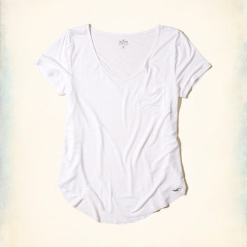 Girls Must-Have Easy Pocket Tee | Girls Tops | HollisterCo.com