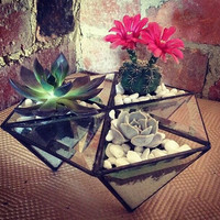 Unique stain glass terrariums. Catches sunlight and reflects an amazing spectrum. FINAL PRICE REDUCTION!! Save over 50%