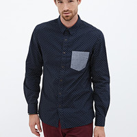 Collared Dot Print Shirt