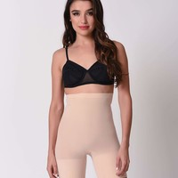 Spanx Nude Higher Power High Waist Shaper Shorts