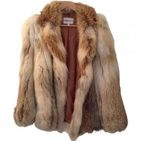FUR JACKET SIZE 38 AMERICAN RETRO