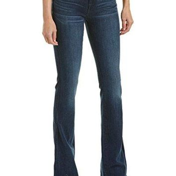 7 For All Mankind Womens A Pocket Medium Mount Rose Straight Leg, 25, Blue
